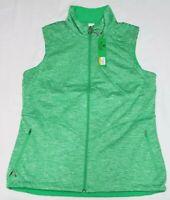 NEW Antigua Womens Heathered Green Sleeveless Full Zip Padded Jacket Vest Size M