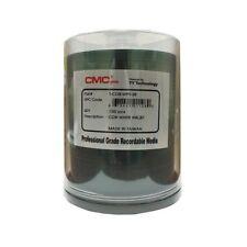 100 CMC Pro Taiyo Yuden 52X CD-R Clear Hub White Inkjet Printable Media