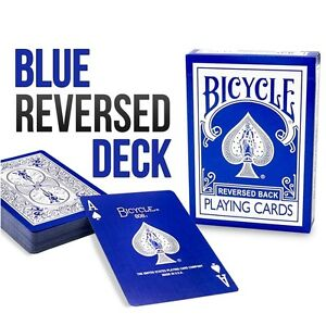 Reverse Blue Bicycle Playing Cards by Magic Makers - Inverse Blue Bike Deck