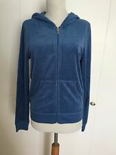Auth Juicy Couture Track Hoodie Terry Blue Eat Candy Viva la Juicy Gold glitter