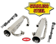 Stainless Steel Racing Duals without Inserts - VW Dune Buggy Bug EMPI 56-3759