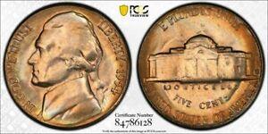 1954-S U.S 5 CENTS JEFFERSON NICKEL PCGS MS65 HIGH GRADE GEM CHOICE TONED APPEAL