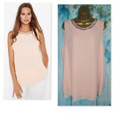 WALLIS TOP SIZE XL  18/20, Gorgeous Pale pink Peach Embellished Occasion Tunic