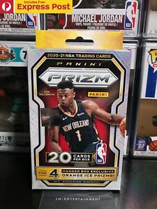 2020-21 PANINI PRIZM NBA BASKETBALL HANGER BOX - 20 CARDS - IN STOCK! EXP POST!