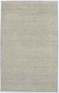 Muted Beige Vintage Style Tribal 5X8 Hand Knotted Wool Area Rug Oriental Carpet