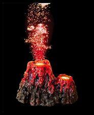 Volcán Led Rojo Aire Piedra Adorno Para Acuario Peces Tanque Nuevo