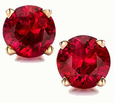 @@ Wholesale Genuine Ruby round Earrings in 14k Gold With Certificate