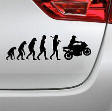Auto Aufkleber Evolution Motorrad fun tuning Bike Sticker