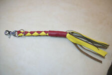 Biker whip getback mini SKULLBUSTER Red & Gold USMC Made By Stitch!!!!!