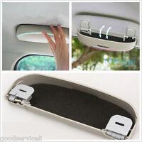 CAR AUTO SUNGLASSES HOLDER SUN GLASSES CASE CAGE CLIP STORAGE BOX GRAY NEW OEM
