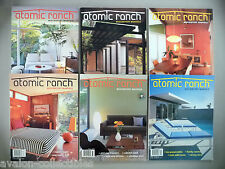 Atomic Ranch Magazine #14 through 19 - LOT of 6 diff. magazines - 2007-2008