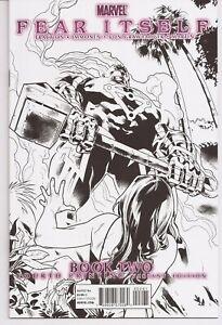 °FEAR ITSELF BOOK TWO° US Marvel 2011 4. Ausdruck S&W Cover Brubaker & Fraction