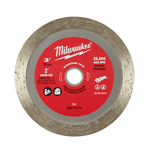 Milwaukee 49943010 76mm (3'') Diamond Tile Blade to suit M12FCOT-0 Wheel New