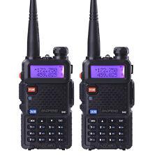 2 Pcs New Baofeng UV-5R VHF/UHF Dual Band Two Way Ham Radio Handheld Transceiver