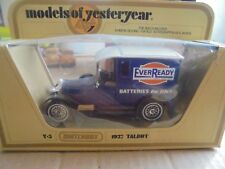 MATCHBOX MODELS OF YESTERYEAR Y-5 1927 TALBOT VAN - EVER READY BATTERIES