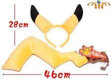 Diadema orejas y cola Pikachu accesorio Cosplay Pokemon disfraz