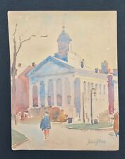 C1935 Philadelphia Pennsylvania Artist John Dull. Impressionist W/C . Signed