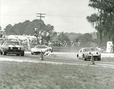 Vintage 8 X 10 1969 Sebring Austin Healey Sprite, Camaro, Ford GT40 Racing Photo