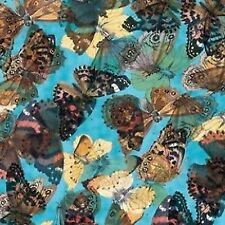 Camelot Cottons Edwardian Lady by Edith Holden 2108802 2 Blue Butterflies Cotton