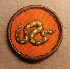 BSA  PATROL MEDALLION PATCH - RATTLESNAKE - 1972 - 1989 - PRE-OWNED  A00297