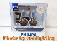 US Genuine Philips WhiteVision White Vision H11 4300K headlight 12362 WHV light