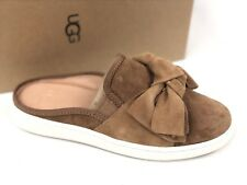 Ugg Australia Womens LUCI BOW Chestnut Brown 1092515 Shoes Slip On Suede Sneaker