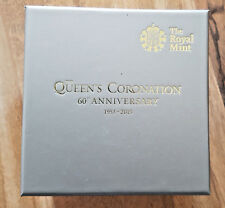 2013 £5 GOLD THE QUEEN`S CORONATION FIVE POUND BOX &COA ONLY