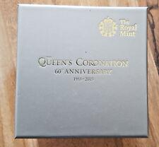 2013 £ 5 ORO la Regina'S INCORONAZIONE cinque Pound box & COA solo