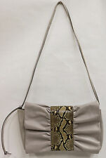 Gino Argenti of Italy Leather & Snakeskin Purse Handbag - Discontinued - NEW