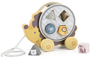The Original Toy Company PolarB Hardwood Hedgehog Pull Toy Shape Sorter - 425532