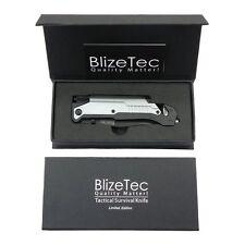 BlizeTec Survival Knife: Best 5-in-1 Tactical Pocket Folding Knife with LED Ligh