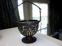 Corbeille/Coupelle WMF en métal argenté/MODERN ART/Silver plated handle cup WMF