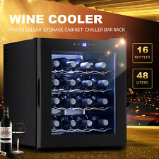 16 Bottles Wine Cooler Fridge Cellar Storage Cabinet Holder Chiller Bar Rack
