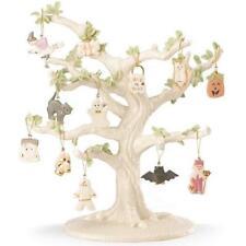 Lenox ~ 12 Halloween Trick or Treat Ornaments And Tree ~ Pumpkin Ghost ~ Nib