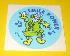 VTG 80s TREND Scratch & Sniff TOOTHPASTE Mint Scent MATTE Sticker~SMILE POWER