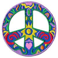 Peace Welt-Frieden Symbol Flower Power Hippie Aufnäher Patch Sticker Aufbügler