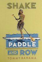 TOMMY BAHAMA Men's T-Shirt - SHAKE PADDLE ROW - Paddling Kayaking Hawaiian