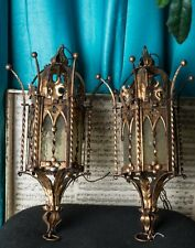 Repurposed Antique French Gothic or Victorian Style Lamp Set