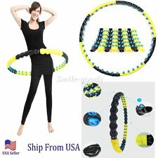Magnetic Health Hoola Hula Hoop Weighted Exercise Diet 3.5Lb 80 Massage Balls
