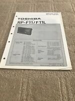 Toshiba RP-F11/F11L  service manual  For 11band Receiver