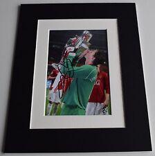 Edwin van der Sar Signed Autograph 10x8 photo display Manchester United COA