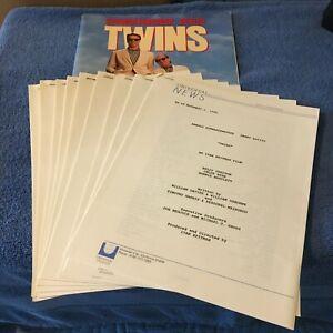 1988 Twins Original Movie Press Documents, Schwarzenegger, DeVito, Preston
