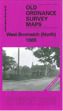 OLD ORDNANCE SURVEY MAP WEST BROMWICH NORTH 1885 COLOURED EDITION