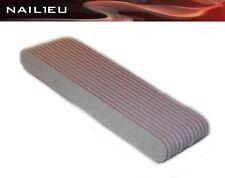 10 X File 100/100 Zebra, 20mm/180mm/10 Pack / Just Nail Files, 10 pcs