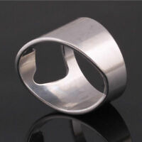 Fashion Cool Mens Stainless Steel Rings Men Novelty Bottle Opener 7-11 Wholesale