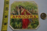 RARE IMPRESSIVE  AFRICORA  ART NOUVEAU  LABEL 1905