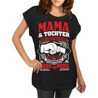Frauen T-Shirt Mama & Tochter Größe XS - 5XL Mutti Mutter Geschenk Geburtstag