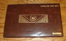 Original 1978 Cadillac Full Line Spectrum Dealer Album 78 Eldorado Seville
