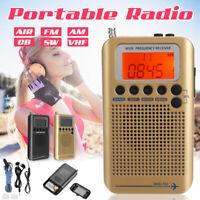 Portable Aircraft Band Radio Receiver VHF Portable Full Band Air Radio Recorder