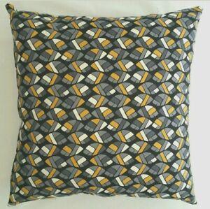 Cushion Cover Handmade Vintage, Retro, Geometric Grey Home Decor 45x45 or 50x50